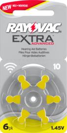 Hoorbatterijen Rayovac geel R10 voor hoortoestellen, Rayovac Extra Advanced