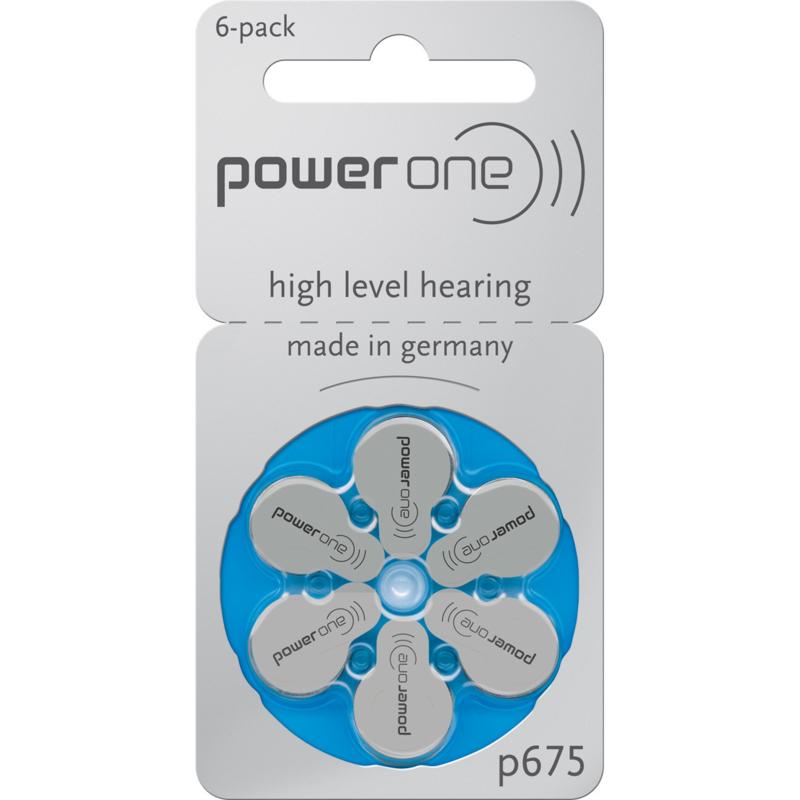 Hoorbatterijen Power One blauw P675 voor uw gehoorapparaat