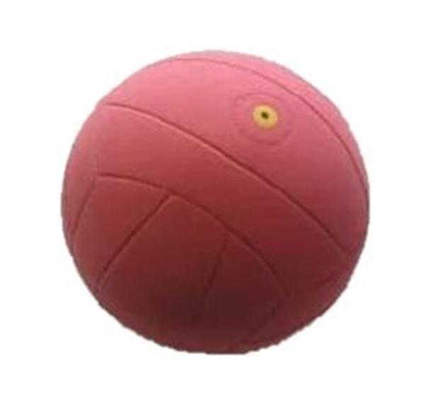 Voetbal met rinkelbel, 21 cm, rood, voor slechtzienden en blinden