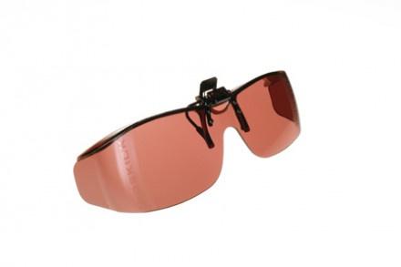 Voorhanger zonnebril Cocoons voor slechtzienden - Paars