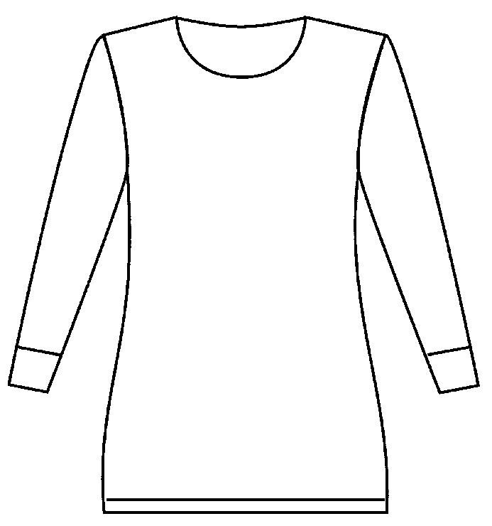 Angora dameshemd met lange mouw en ronde hals 50% angora - 10047
