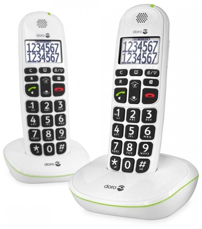 Telefoon voor slechtzienden - Doro loop telefoon (Dect) 110 duo met grote sprekende toetsen - 247632
