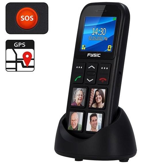 Mobiele telefoon met GPS en fototoetsen, telefoon Alzheimer, dementie - FM-50