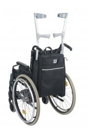 Tas en krukhouder in één, tas voor rolstoel of scootmobiel