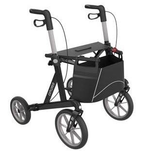 Extra brede rollator met grote wielen, Buitenrollator, Server Rehasense Explorer Outdoor Medium - bruin