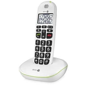 Telefoon voor slechtzienden, Doro loop telefoon (Dect) 110 Wit met grote toetsen - 247630