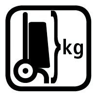 Max. gewicht boodschappenwagen