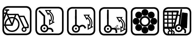 Functies boodschappenwagen met grote wielen met kogellagers