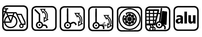 Functies boodschappenwagen met grote wielen met spatborden, Royal Shopper Plus