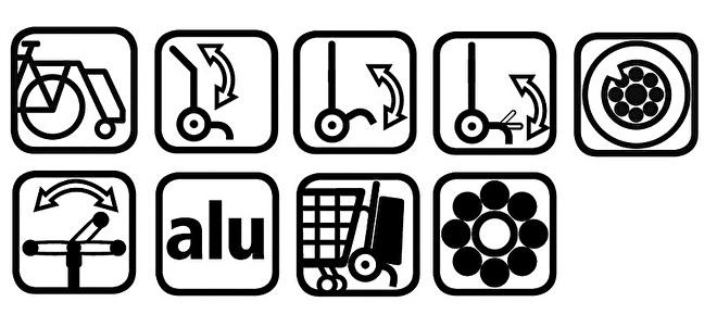 Functies boodschappenwagen met grote wielen, Tura Shopper