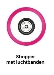 Shopper, boodschappentrolley met luchtbanden