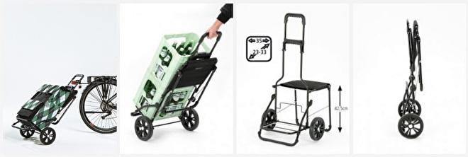 Overzicht functies boodschappenwagen met zitje - Komfort Shopper