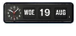 Kalenderklok tafelmodel BQ-38 Zwart, klok die dag en datum weergeeft (644109)