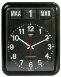 Nederlande kalenderklok BQ-12A Zwart voor slechtzienden (geeft dag, datum en maand weer) (644102)
