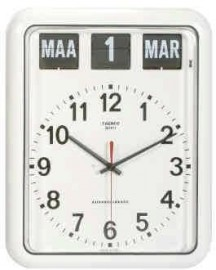 Nederlandse kalenderklok BQ-12A Wit (644103)