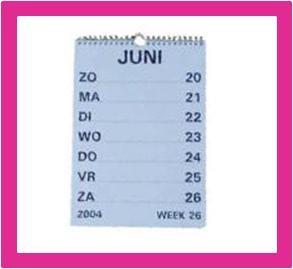 Grootletter agenda`s en grootletter kalenders voor slechtzienden bij Winkel met Zorg