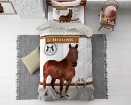 HORSE RIDING BROWN katoen