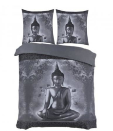 Buddha-grijs-dekbedovertrek