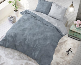 Twin Washed Cotton Blue -taupe-grijs