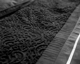 MELIA BLACK katoen satijn