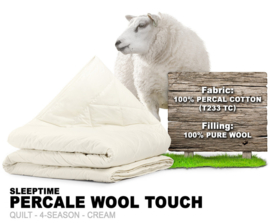 Percale Cotton Wool Touch 4-seizoenen
