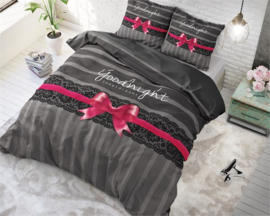 Goodnight Ribbon Anthracite-pink