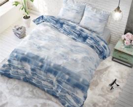 Shibori Tiles Blue-grijs