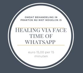 Afstandsbehandeling voor mens of dier 15 minuten via Face Time of Whatsapp
