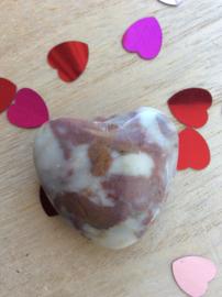Stenen hart 4 cm