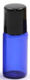 3 ml Blauw glazen roller flesje voor essentiële oliën