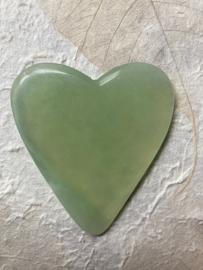 Jade Guasha Steen hartje 4 mm dikte