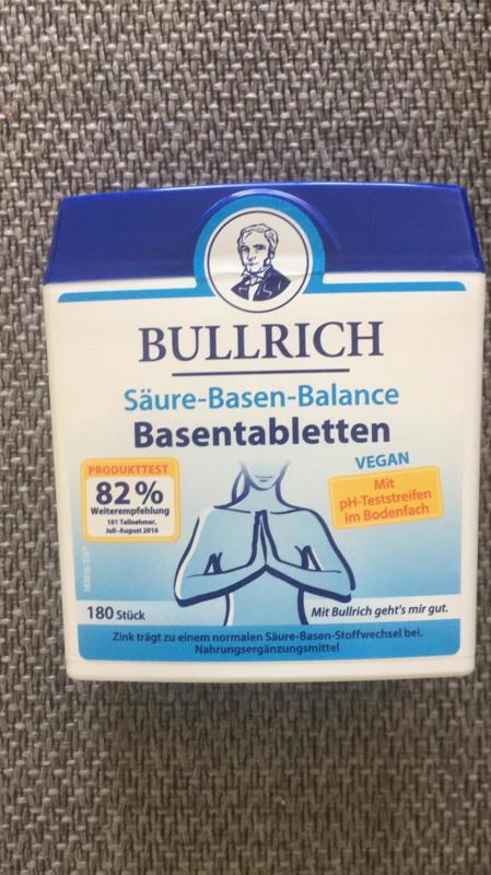 Bullrich`s Vital, ondersteunt de zuur base huishouding, 180 tabletten VEGAN