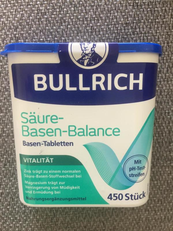 Bullrich`s Vital, ondersteunt de zuur base huishouding, 450 tabletten VEGAN