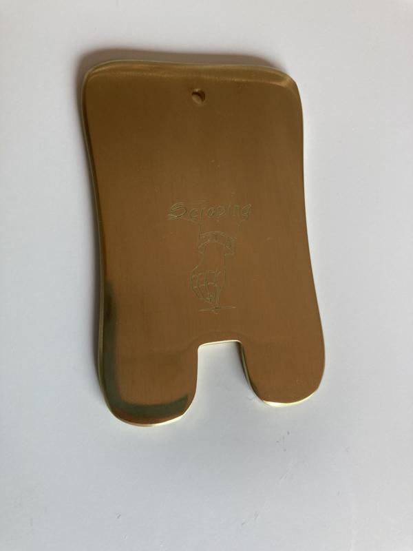 Koperen guasha boterham model