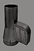Rookgasventilator met inlaatpijp Ø150mm (ZWART) WN-GCK150-CH-ML-B-K