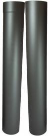 EW/Ø150mm Kachelpaspijp set 105 - 195cm (met verjonging)  Kleur: Antraciet