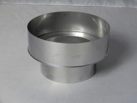 Verloopstuk RVS 79 - 150 mm