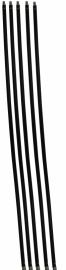Veegsets met stalen borstels (zwart)