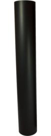 EW/100 0.6mm pijp 100cm zónder verjonging Zwart