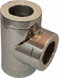 DW/Ø130mm T-stuk 90°graden #WS-TRD130/225/90-CH5