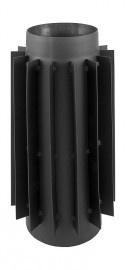 EWØ150 2mm  Lamellenpijp - warmtewisselaar (Kleur: Zwart)