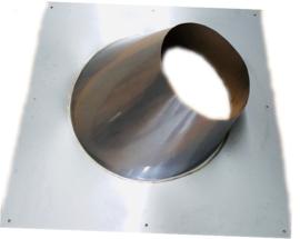 DW/Ø150-200 mm Dakplaat hellend 20° -  45°graden (Nieuw!!) - zwart