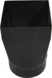 Verloopstuk rond naar vierkant 150 mm - 2 mm staal  ( Zwart ) RED150R/V2MM