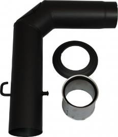 EW/130 2mm Aansluitset 90° graden - Zwart