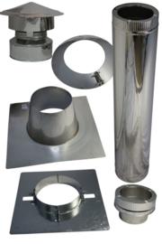 Modernline baby met compleet platdak bitumen (RVS)