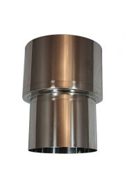 RVS Verloopstuk - recht - vergrotend  99 mm - 150 mm #VLR099150