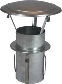 GegaL. zelfklemmende regenkap met opklapbaar deksel Ø100mm DA-100-OC-PT