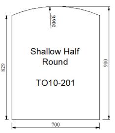 Kachelvloerplaat toog 700 x 900 x 6 mm