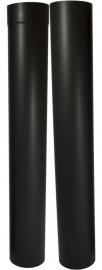 EW/Ø150mm 0,6mm Paspijp set 105-195cm (zonder verjonging) - zwart