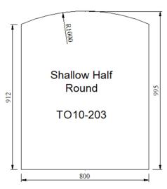 Kachelvloerplaat toog 800 x 1000 x 6 mm